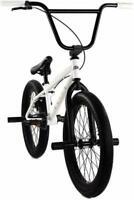 "Elite BMX 20"" Bike Stealth Freestyle White NEW 2020 1-Piece By Mr. Bikes"