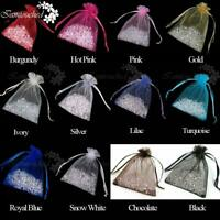 Organza Candy Bags Jewelry Pouches Decor Gift Sheer Birthday Party Favor Decor