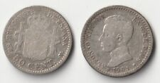 New listing 1904 Spain 50 centimos silver coin