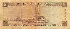 Bahrain  1/4  Dinar  6.1964  P 2a  Series  AA  Circulated Banknote XYZ6