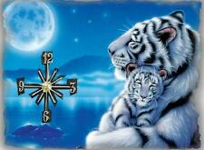 White Tiger wall clock They make great gifts
