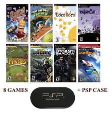 PSP MEGA 8 Game Bundle with Free UMD Case Holder - Brand NEW - Special Price