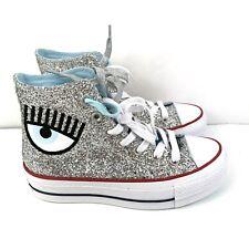 Converse X Chiara Ferragni CTAS Platform High Top Shoe Sz 5 Glitter Lift 563828C