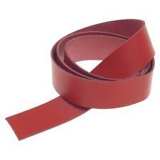 Lederriemen 135 cm Lang Rot 2,4 mm Dick Gürtelleder Rindsleder Leather GB15