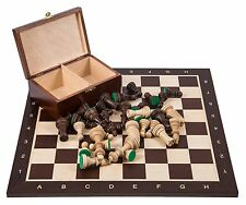 SQUARE - Pro Wooden Chess Set No. 6 - WENGE - Chessboard & Chess Pieces