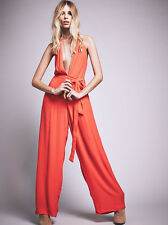 FREE PEOPLE SAMMIE JUMPSUIT BY BACKSTAGE FANTA CORAL XS NWT $253 SOLD OUT