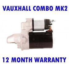 Fits Vauxhall combo mk2 mk II 1.3 CDTI 2004 2005 2006 2007 - 2012 starter motor