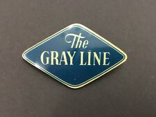 """Vintage 40s-50s Celluloid The Gray Line logo Pin Travel Tours Sightseeing 2 1/4"""""""