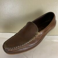 ALLEN EDMONDS Interstate 90 Brown Leather Driving Loafer Shoes 10 .5 D