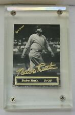 1993 Spectrum Babe Ruth P/OF Authentic 24K Gold Signature Card in Case #4461