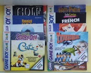 Job Lot Bundle Nintendo Gameboy Genuine Manuals Booklets