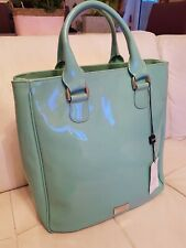 Authentic-Armani Collection-Mint Green Patent Leather Shoulder Bag New With Tag