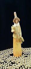 "Autumn Harvest Figurine, Orange, Gold, Light Green, Yellow, 8.5"" Tall x 1 3/4 W."
