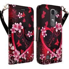 Design Leather Credit Card Holder Wallet Case Flip Pouch Cover for LG Phones