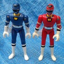 Power Rangers Turbo Bandai Red & Blue Ranger Action Figure Lot 1997 VTG Saban