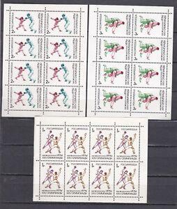1992 Russland 50 Sätze Olympia Kleinbogen 245 - 247 Postfrisch ** MNH