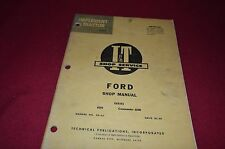 Ford 6000 Commander 6000 Tractor I&T Shop Manual MISC1