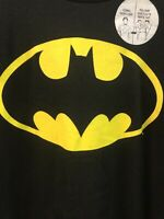 Batman Logo Shirt Black Gold Medium DC Comics Originals