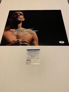 Nate Diaz Signed autograph 11x14 Photo UFC 196 Conor Stockton 209 PSA/DNA COA