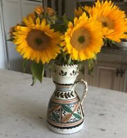 VINTAGE SPANISH Ceramic Pitcher, TOLEDO,SPAIN,Signed,1940s-60s