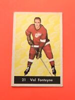 Val Fonteyne 1961-62 Parkhurst Hockey Card #21  See Photos for Condition