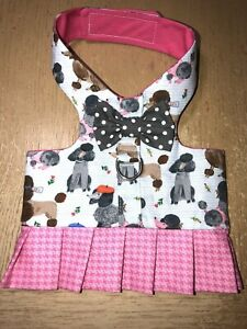 Dog or Cat Harness Vest Handmade Poodles 2532 XS