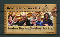 Sierra Leone 2015 MNH Nobel Prize Winners 2015 4v M/S Medicine Chemistry Stamps