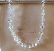 Mid Century RARE COTY Aurora Borealis Glass Crystal Necklace Choker Original Box