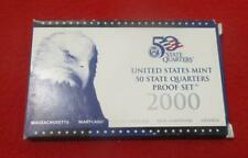 2000-S STATE QUARTERS 5 COIN CLAD Proof Set. OGP                       #MF-T4169