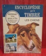 vintage 1967 Encyclopédie par le Timbre.  # 4 . les Chiens  . sticker book