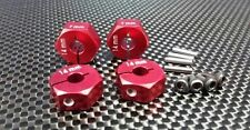 Axial EXO, SCX10, Wraith Upgrade Parts Aluminum Hex Adapter (14mmx7mm) - Red