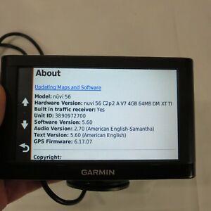"Garmin nüvi 56LMT GPS 5"" Lifetime Maps & Traffic Bundle Cord and Mount UPDATED"