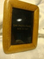 """Solid Oak Photo Frame Holds 3.5""""x 5"""" Picture Natural Wood Freestanding Decor 401"""