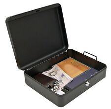 A4 Security Cash Document Storage Safety Deposit Secure Lock Key Safe Box Metal