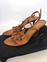 FENDI Heels Leather Sandals Size 41