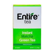 Entire Tea Instant Ceremonial Matcha Green Tea Packets (10 Pack), True Matcha