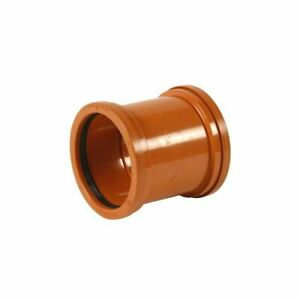 """Double Socket Pipe Coupler 4""""/110mm for Underground Sewer Pipes Drainage"""