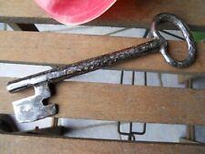 Ancienne clef clé en fer forgé XVIIe ou XVIIIe 15 cm
