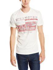 J2872 Wrangler Herren T-Shirt S/S LOGO+ T, Gr. Medium, Elfenbein (OFFWHITE 14)