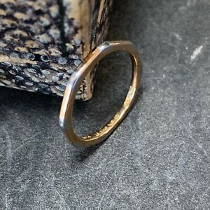 Victorian 22ct gold and platinum wedding band antique ring dates 1889,  UK K1/4