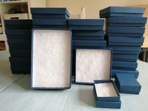 Lot of assorted cardboard jewellery boxes, 30 in total - new