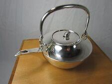 Antique Japanese Pure Silver Ceremonial Teapot~Inscribed Konosuke Matsushita #2