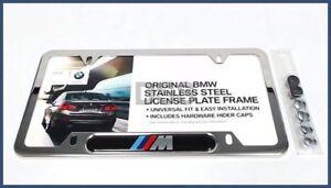 Genuine BMW M Logo License Plate Frame Stainless Steel OE 82120010405