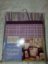 NEW CoCALo BABY  SUGAR PLUM WINDOW VALANCE PURPLE AND GREEN