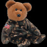 """TY BEANIE BABIES  """"HERO - USA THE BEAR RETIRED""""    MINT WITH MINT TAG"""