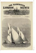 JUN 29 1872 ILLUSTRATED LONDON ROYAL THAMES YACHT CLUB SCOONER AD PRINT G833