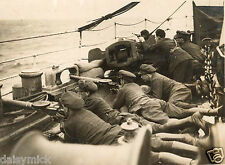National Army Troops Irish Civil War on Ship Reprint Photo 7x5 inch