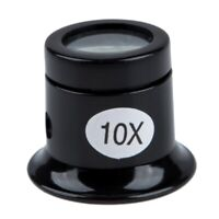 Watch Eyes Loupe 10X Jeweller Optical Glass Magnifier Magnifying Len Tool V4Y8