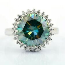 3.65 Ct Certified Blue Diamond Solitaire Ring- Designer Creation.Great lustre!