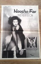 NOOSHA FOX  Heat Is On 1979 UK Poster size Press ADVERT 16x12 inches